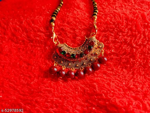 FANCY MANGALSUTRA WITH BIG PENDENT