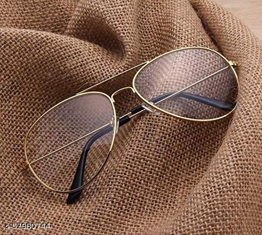 Black Spectacle Frame Aviator Sunglasses For Men