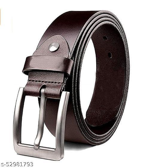 genuine pure leather belt (black)