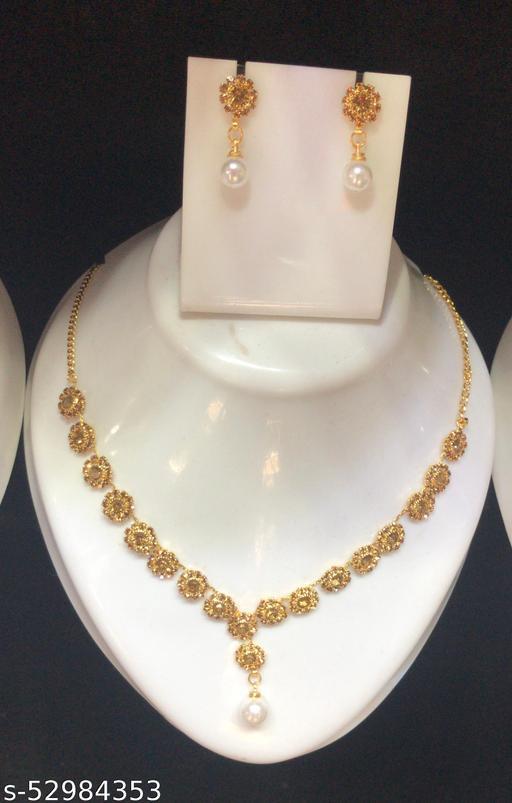 Vernal Elegant Diamond Necklace Set   Jewellery Set For Parties