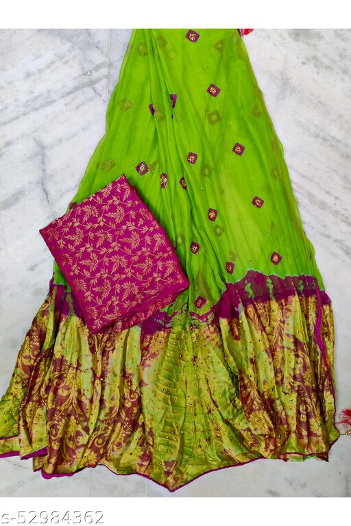 Bandhani Chiffon Sarees