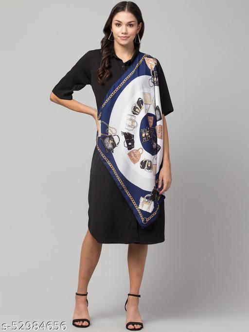 Unique style scarf attached dress