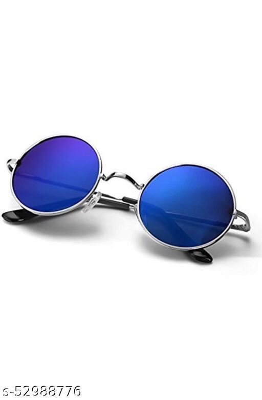 Round sunglasses blue