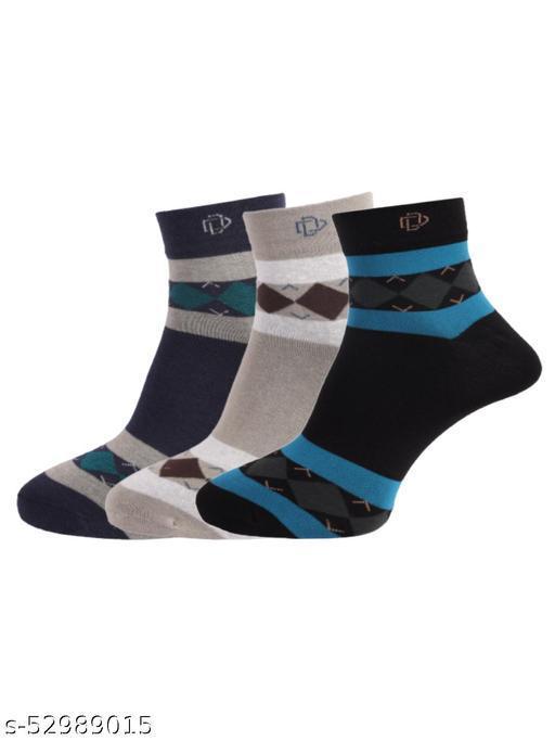 Dollar Men Pack of 3 Assorted Ankle Length Socks