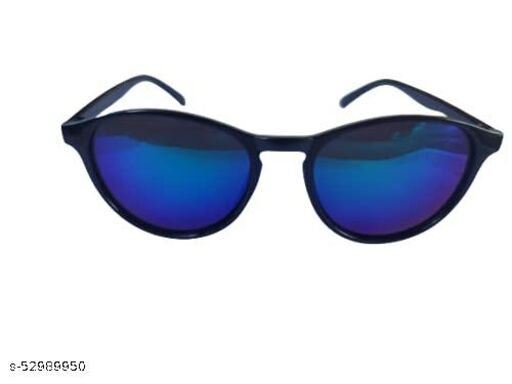 Royal Men's blue glass round Sunglasse