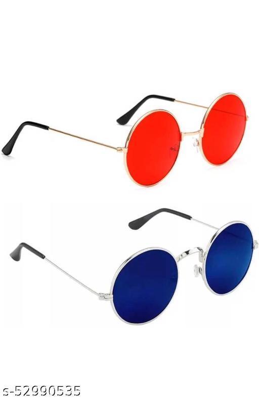 Round sunglasses red , blue