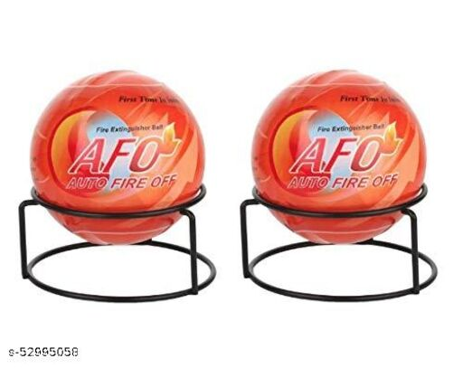 AFO (AUTO FIRE OFF) Plastic Fire Extinguisher Ball, Standard Size, Orange - Pack of 2 Balls