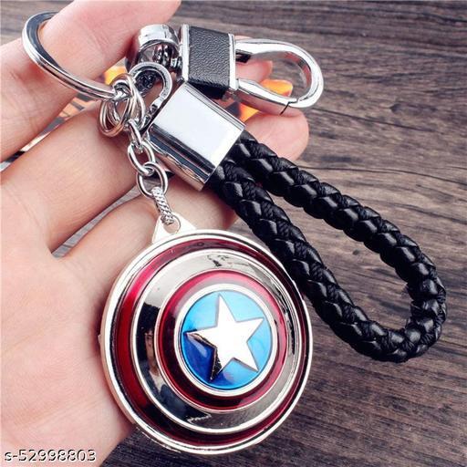 Captain America Rotating Shield Keyring & Keychain