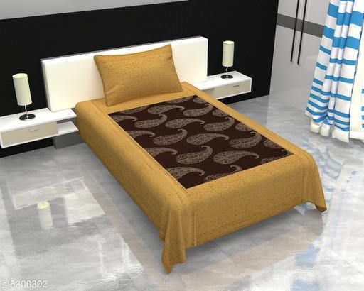 Myra Ethnic Cotton 60x90 Double Bedsheet