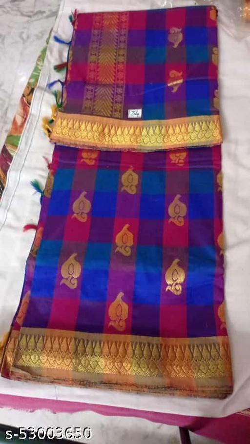 Madurai Maruthi OSP Sungudi Sarees - 7 yards Silk Cotton Handloom Saree with Rich pallu design including Blouse material attached - 15