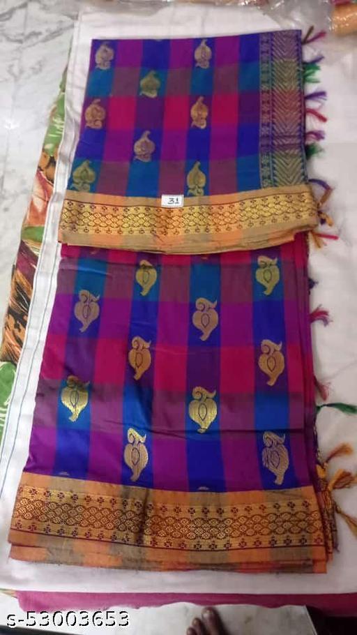 Madurai Maruthi OSP Sungudi Sarees - 7 yards Silk Cotton Handloom Saree with Rich pallu design including Blouse material attached - 14