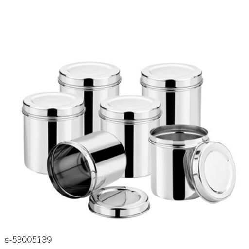 Punit Stainless Steel Ubba Dabba, Airtight Storage Container, 6 Piece Set - 6500ML to 9500ML