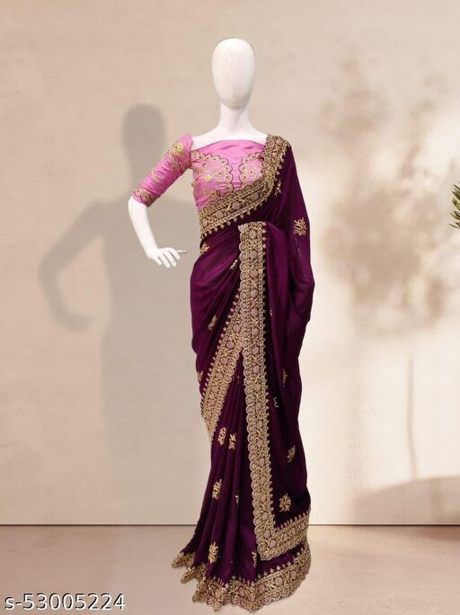 woman's fancy saree