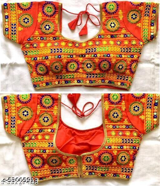 DENBITS TRADITIONAL BLOUSE RED @H
