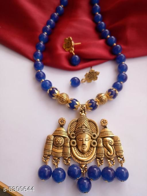 Jewellery Set Attractive Antique jewellery Set  *Material* Antique  *Plating* Gold Plated  *Stone Type* Artificial Stones  *Sizing* Adjustable  *Type* Necklace and Earrings  *Multipack* 1  *Sizes Available* Free Size *    Catalog Name: Feminine Chunky Jewellery Sets CatalogID_787041 C77-SC1093 Code: 212-5300644-