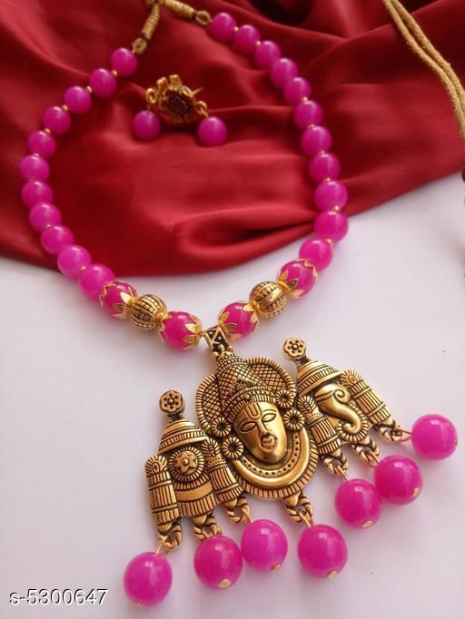 Jewellery Set Attractive Antique jewellery Set  *Material* Antique  *Plating* Gold Plated  *Stone Type* Artificial Stones  *Sizing* Adjustable  *Type* Necklace and Earrings  *Multipack* 1  *Sizes Available* Free Size *    Catalog Name: Feminine Chunky Jewellery Sets CatalogID_787041 C77-SC1093 Code: 212-5300647-