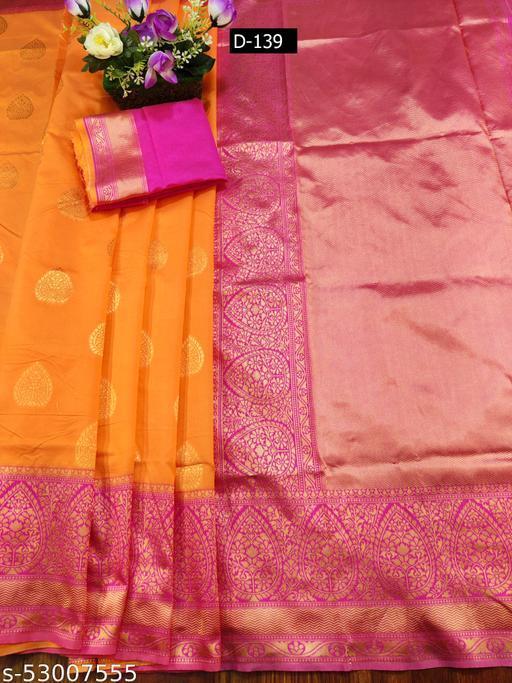 Ethnic studio presents Magenta Color Banarasi Shikargha Silk Saree