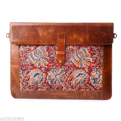 Genuine Leather, Felt & Fabric Frame Sleeve/Compartment Handmade Unisex Laptop Sleeve Bag for Apple MacBook 13 Inch