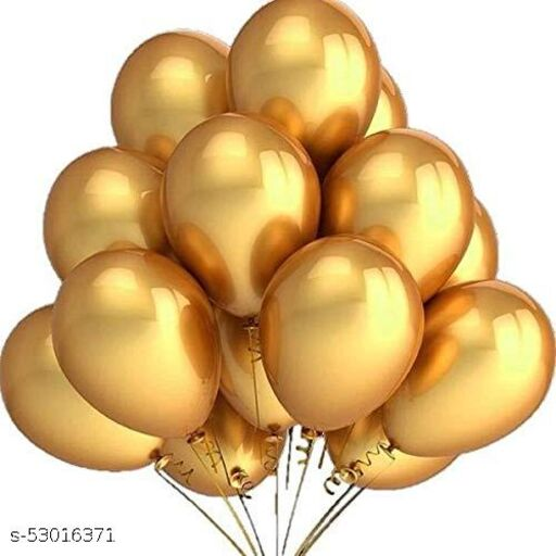 Metallic Party Balloon   Pack of 40 Balloons   Golden Color   12 inch HD Metallic Finish Balloons   for Any Party Decoration