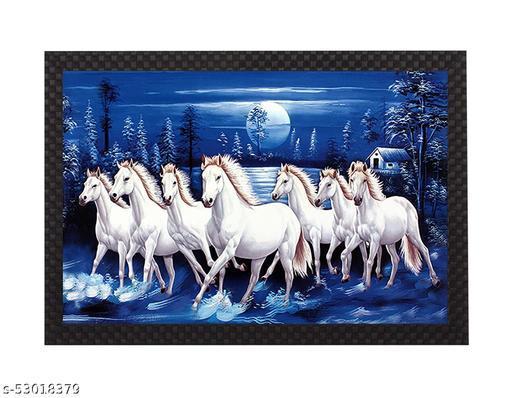 saumic craft seven running horse sunrise vastu painting