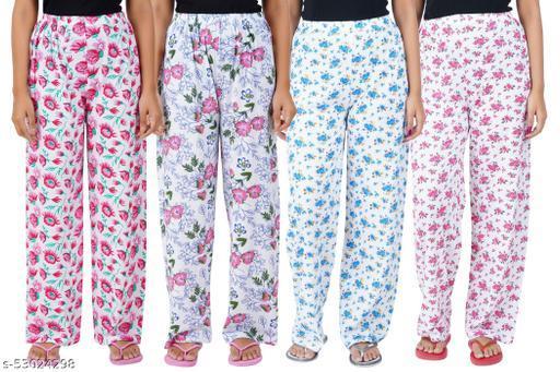 PJ33 Women Cotton Pyjama Multicolor Pack Of 4