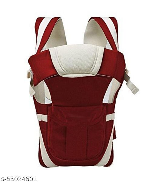 Always4U Always4U Adjustable Hands-Free 4-In-1 Baby Carrier Bag With Waist Belt (Cherry Red)