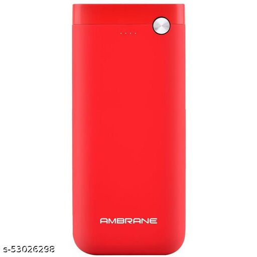 Ambrane PP20 High Density Lithium Polymer 20000 mAh Type-C & Micro USB Input with Dual Output Power Bank (Red)