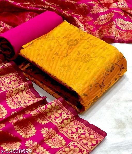 Banarasi Vt Mustard Suits