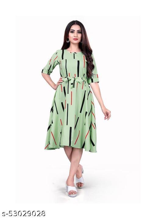 western knee length Dress