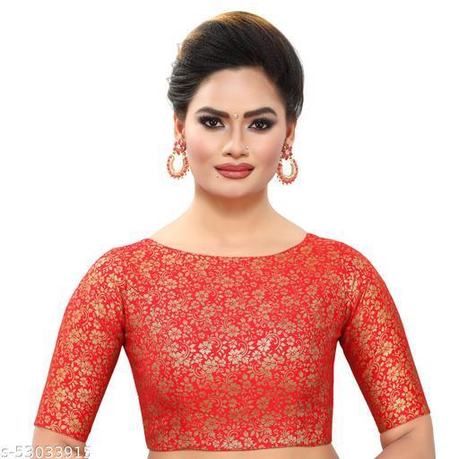 MADHU FASHION Brocade Readymade Saree Blouse