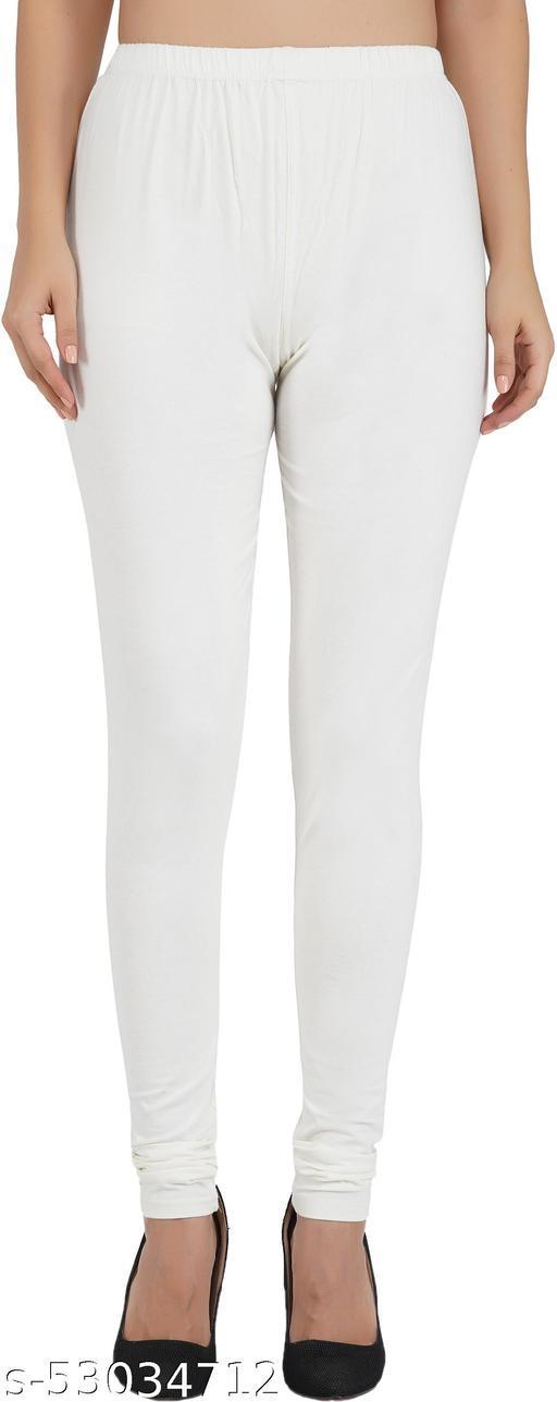 Kwalitiform Churidar Ethnic Wear Off- White , Solid Legging