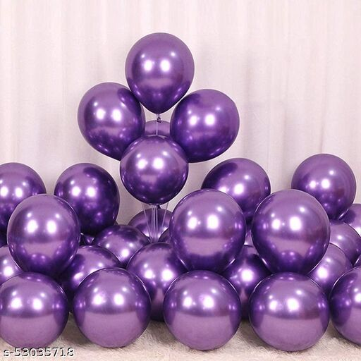 Metallic Party Balloon | Pack of 40 Balloons | Purple Color | 12 inch HD Metallic Finish Balloons | for Any Party Decoration
