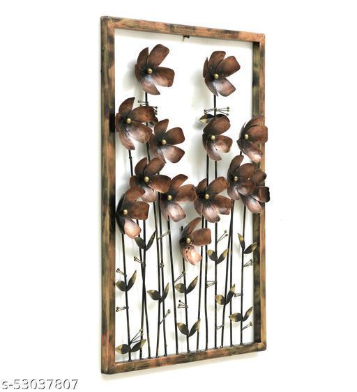 INDIAN CRAFT HOUSE Iron Floral Daizzy Pannel Showpiece