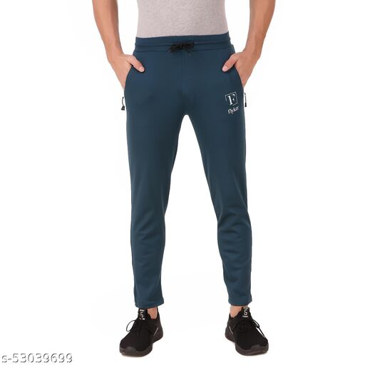 flyker mens regular fit 4waylycra trackpants - airforce