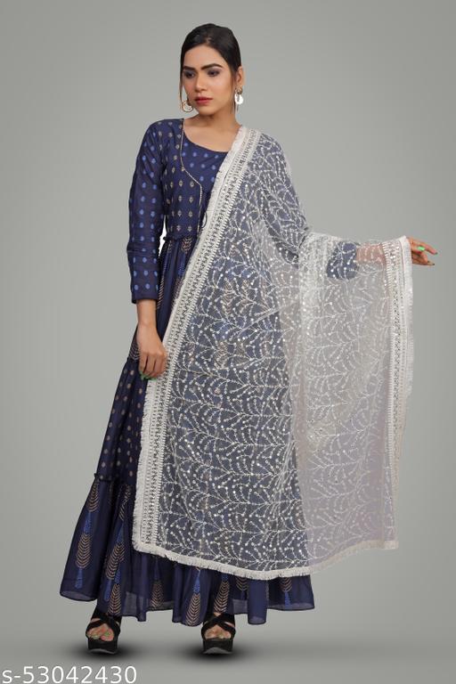 Net Lakhnavi Dupatta For Women