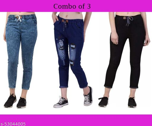 Style69 Women Joggers - Combo of 3