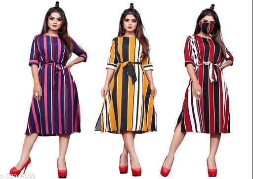 BLACKBIRD Women A-line Multicolor Dress