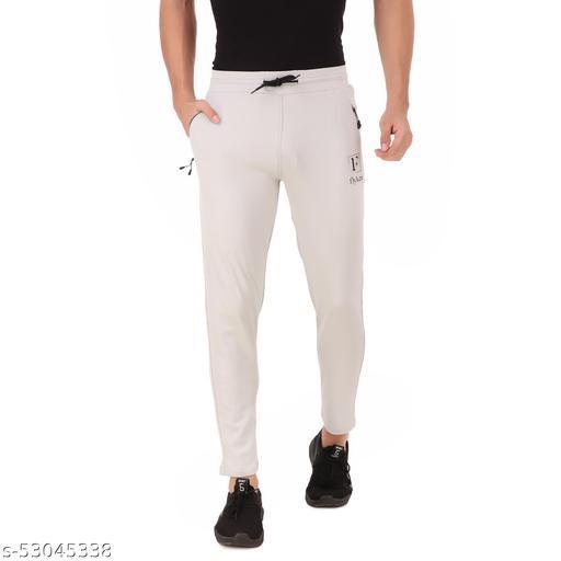 flyker mens regular fit 4waylycra trackpants - lightgrey