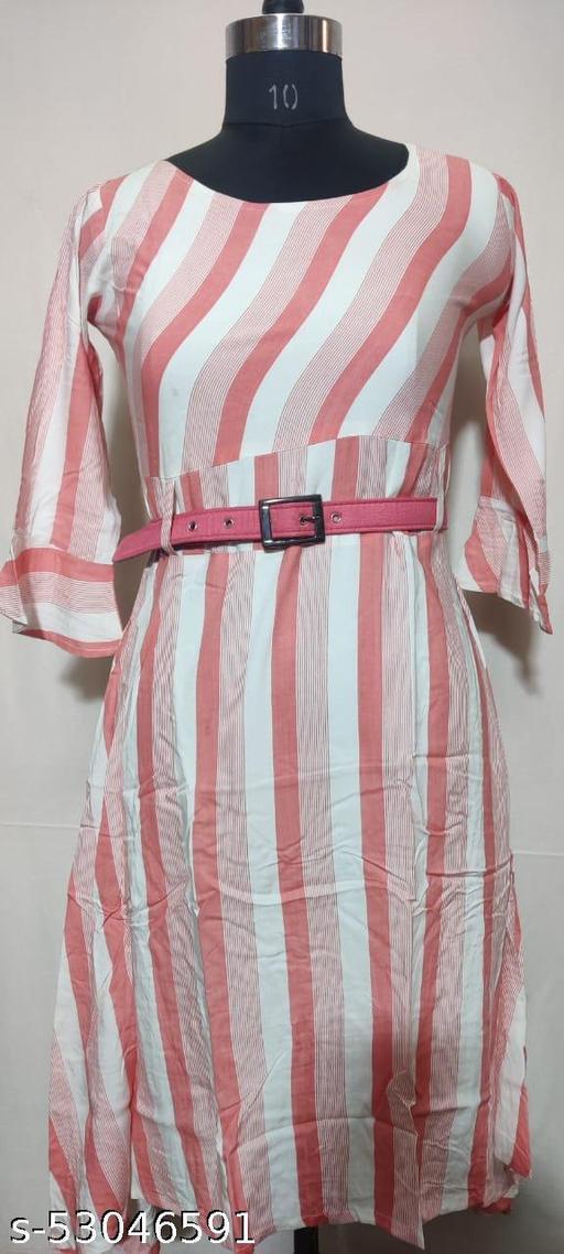DOUBLE STRIPES MIDDI DRESS