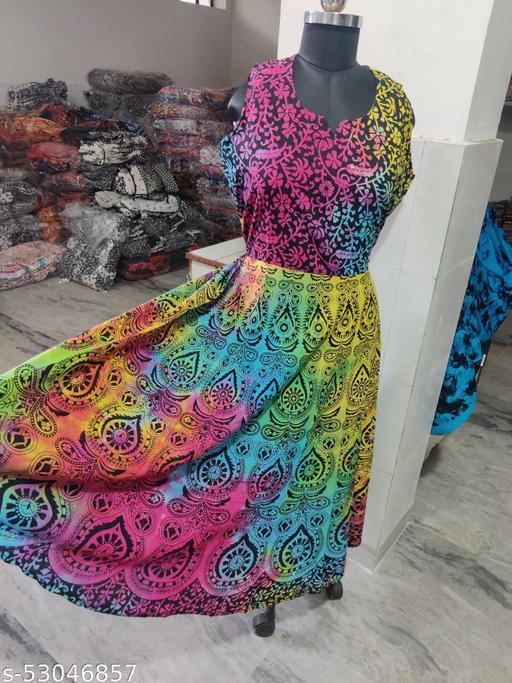 Tie-die-printed-dress