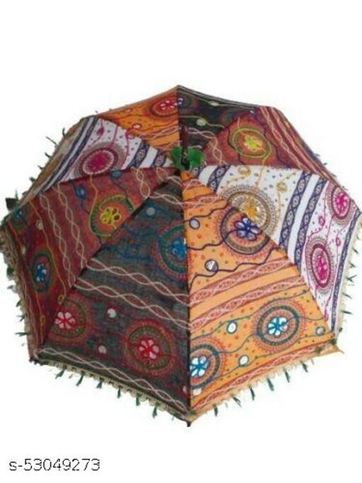 Colorful Design Rajasthani Umbrella Handicraft,Embroidery work,single