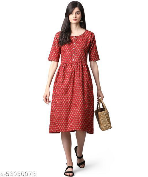 Oooh Lady Fashion Womens Cotton Western Dress