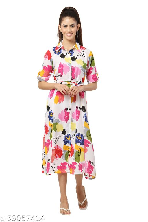 MM LADY OUTFITS FLORAL PRINTED MAXI DRESS FOR WOMEN