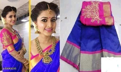 Embroidered Fashion Silk Blend Saree