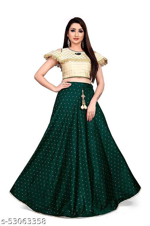 Latest Design Fancy Satin Lehenga Choli