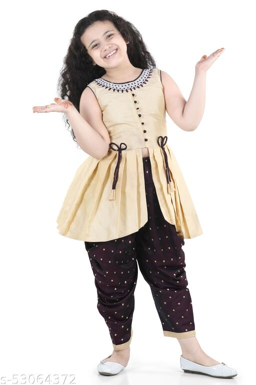 Adiva Kids Sleeveless Kurta and Patiala Set For Girls