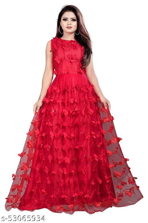 Trendy Women's Net Long Gown