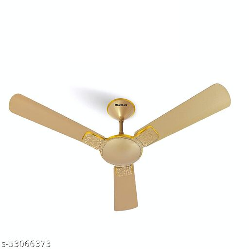 Enticer Hues 1200mm Decorative, Dust Resistant, High Power in Low Voltage (HPLV), High Speed Ceiling Fan (Gold)