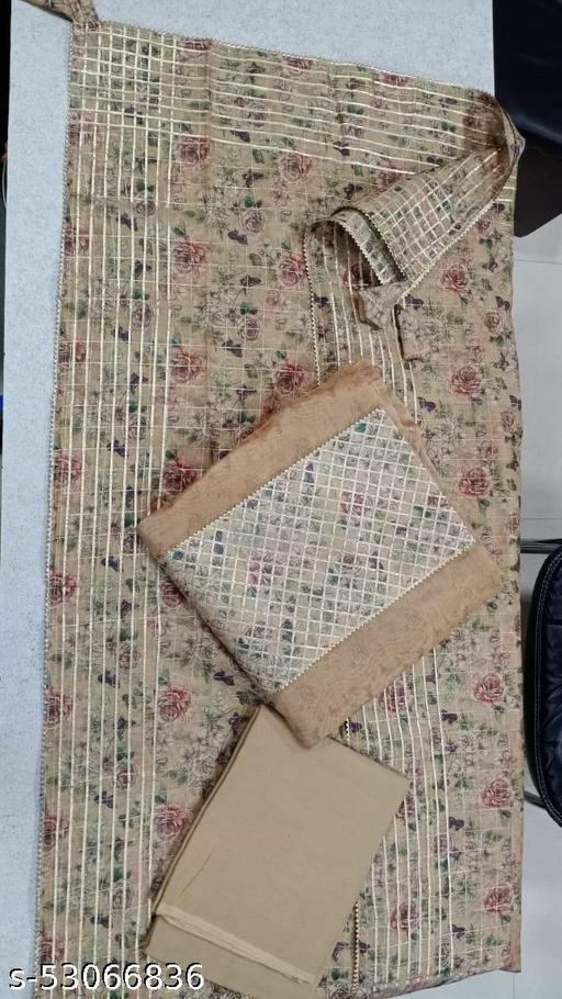 Unstitched Cotton Silk Suit