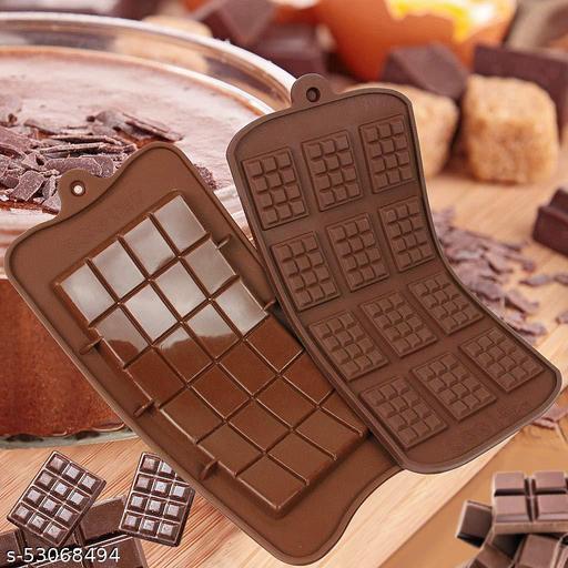 12 Cavity Mini Choc Bar and 24 Cavity Chocolate bar Flexible Silicone Mold Chocolate Cake Mould(Random Colour) candy & chocolate mould